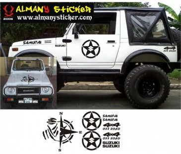 Suzuki samurai sticker.jeep off road sticker,oto sticker,jeep sticker-2