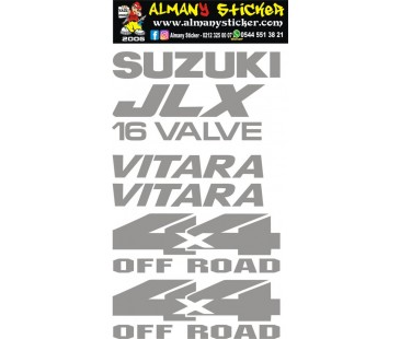 Suzuki vitara jlx 16 valve sticker set,jlx sticker,suzuki sticker