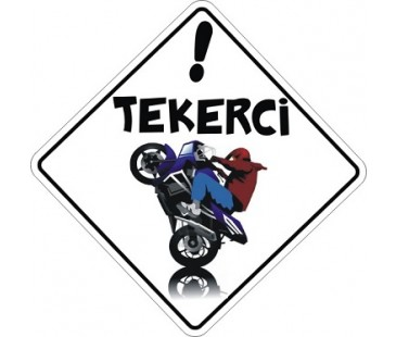 Tekerci Sticker,Motosiklet Sticker