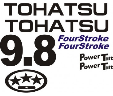 Tohatsu 9.8hp motor sticker