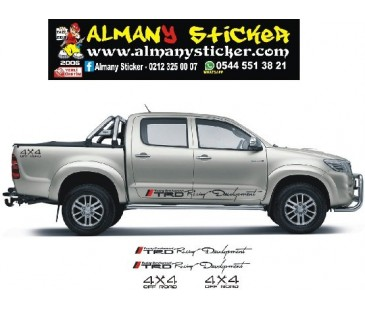 Toyota Hilux Trd ve 4x4 sticker set,hilux sticker