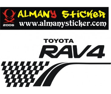 Toyota Raw4 Stepne Sticker,jeep Sticker