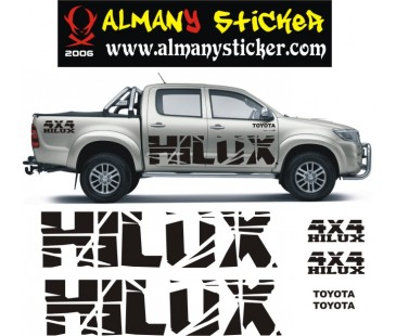 Toyota hilux sticker set
