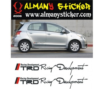 Toyota yaris trd sticker