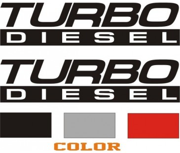 Turbo Diesel sticker