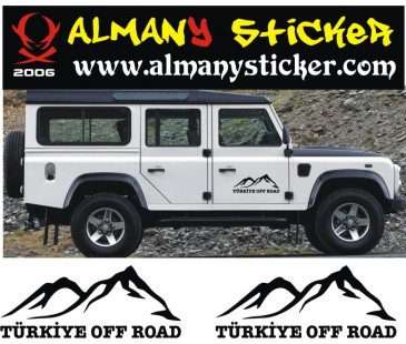 Türkiye Off road sticker,jeep sticker