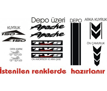 Tvs Apache Sticker Set