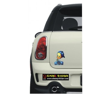 Tweety sticker-2,oto sticker,motosiklet sticker