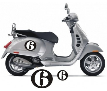 VESPA 6 NUMARA STİCKER