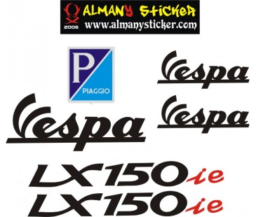 Vespa Lx150ie sticker set