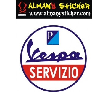 Vespa servızıo sticker,vespa sticker