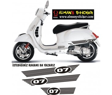 Vespa sticker ,yeni model sticker-1