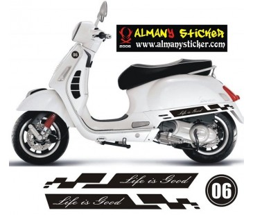 Vespa sticker ,yeni model sticker-2