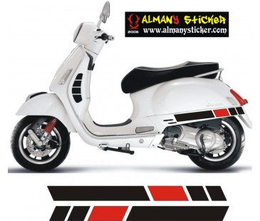 Vespa sticker 23 set