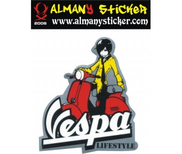 Vespa sticker,Life style sticker