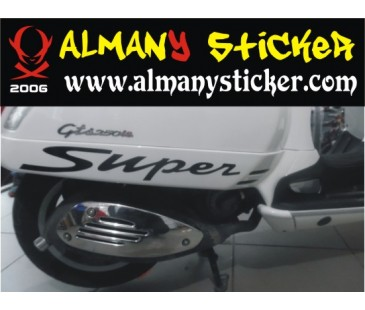 Vespa süper sticker