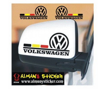 Volkswagen ayna kapağı sticker,volkswagen sticker,oto sticker