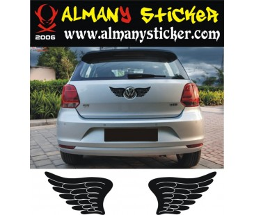 Volkswagen kanat,melek sticker,oto sticker