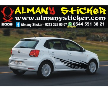 Volkswagen polo çamur sticker