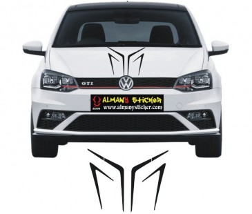 Volkswagen polo ön kaput sticker