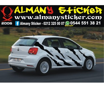 Volkswagen polo zebra sticker