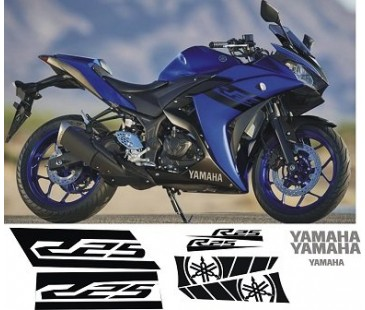 YAMAHA R25  STİCKER ,2018 MODEL MAVİ RENK
