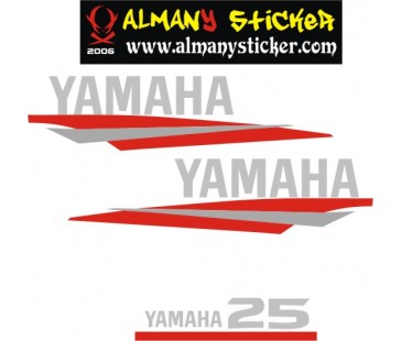 Yamaha 25 hp sticker set