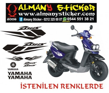 Yamaha Bws sticker,motosiklet sticker,yamaha sticker