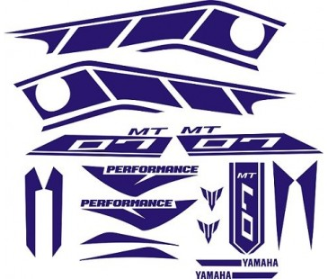 Yamaha MT07 Sticker set