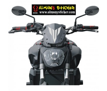 Yamaha Mt03,07,09 ön cam mt logosu sticker-1