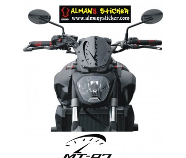 Yamaha Mt03,07,09 ön cam mt logosu sticker-3