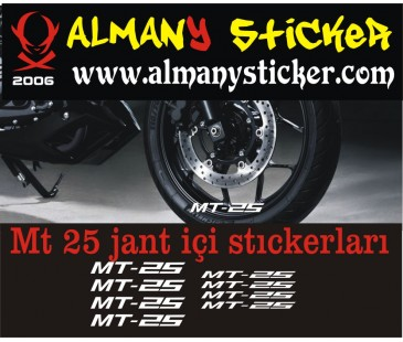 Yamaha Mt25 Jant içi Sticker set