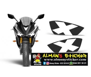 Yamaha R25 Far Sticker,çarpı sticker,etiket,r25 sticker,far,motosiklet sticker