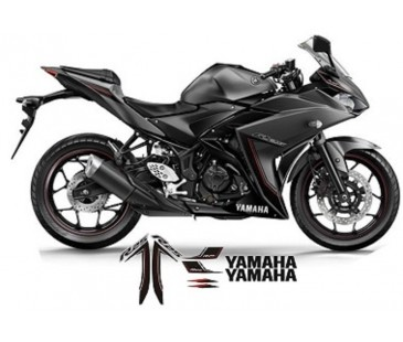 Yamaha R25 Gri model sticker set