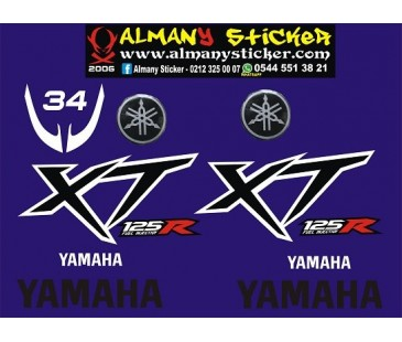 Yamaha XT125r sticker set