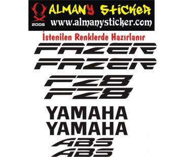 Yamaha fz8 sticker set,motosiklet sticker