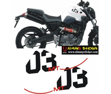 Yamaha mt03 sticker