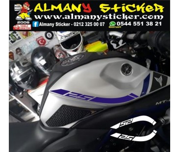Yamaha mt25 depo sticker,motosiklet sticker