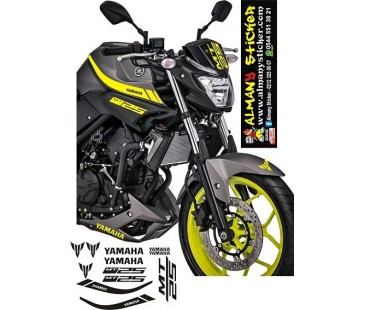 Yamaha mt25 sarı renk sticker,mt 25 sticker,motosiklet sticker