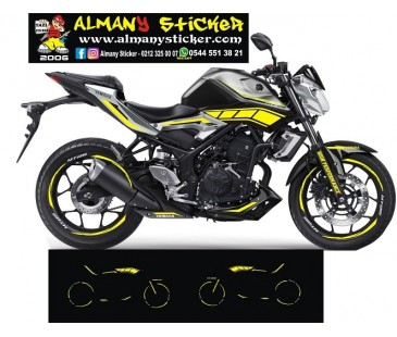 Yamaha mt25 sticker set-45