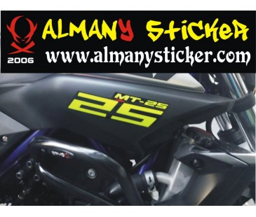 Yamaha mt25 sticker set,motosiklet sticker