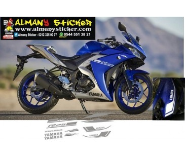 Yamaha r25 mavi sticker,motosiklet sticker