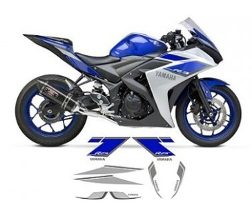 Yamaha r25 mavi sticker set