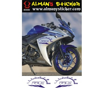 Yamaha r25 sticker set-2 ,motosiklet sticker