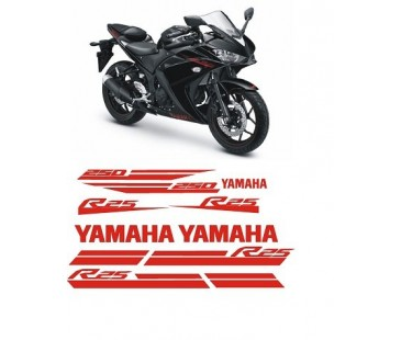 Yamaha r25 sticker set,siyah 2017 model