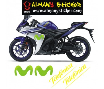 Yamaha sticker set,motosiklet sticker,movistar sticker,telefonica sticker,revs your heart sticker