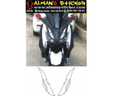 Yamaha xmax ön panel sticker