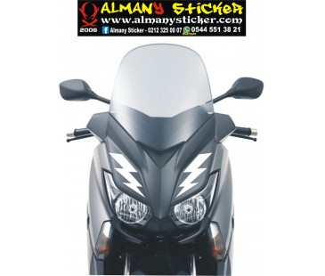 Yamaha xmax sticker,ön panel şimşek sticker