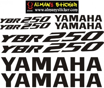 Yamaha ybr250 sticker set