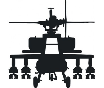 Apache helikopter sticker